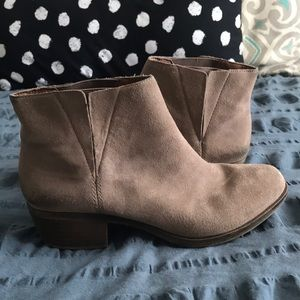 Lucky Brand Taupe Booties